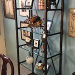 1-28420 Steel and Glass Etagere