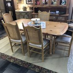 1-28414 Pine Table w/ 6 Chairs, 2 Leaves