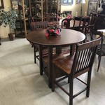 1-28620 Drop Leaf Bistro Table w/ 2 Chairs