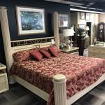 1-28603 Henredon King 4 Piece Bed