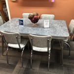 1-28701 50's Retro Table w/ 6 Chairs
