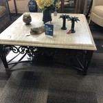 1-29169 Large Square Stone Coffee Table