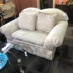 1-29426 White Brocade Drexel Loveseat