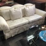 1-29425 White Brocade Drexel Sofa