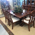 1-29803 Dining Table, 8 Chairs, 1 Leaf