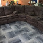 1-30246 Chocolate Brown Sectional w/ 4 Recliners