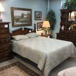 1-30114 Thomasville Queen Headboard, Dresser w/ Hutch, Chest, Nightstand