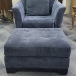 1-30262 Macys Gray Chair and Ottoman