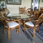 1-30241 Rattan Table w/ 4 Chairs, PADS