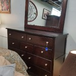7898-140 Dark Cherry Dresser w/ Mirror