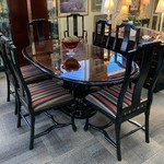 1-30272 Henredon Table w/ 8 Chairs One Board and Pads