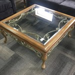 1-30238 Coffee Table Glass/Metal/Wood