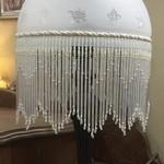 1-30328 Victorian Glass Lamp w/ Glass Fringe