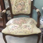 1-30350 Flowered Print Tapestry Chair