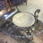 1-29810 Glass & Metal Coffee Table