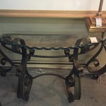 1-29811 Glass & Metal Sofa Table