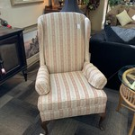 1-30112 Gold Stripped Wingback Chair