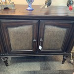 1-30445 Dark Wood Cabinet w/ Drawers
