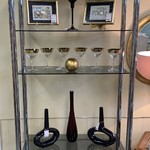1-30522 Chrome and Glass Etagere