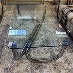 1-30523 Chrome & Glass Coffee Table
