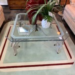 1-30801 Glass and Metal Coffee Table