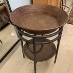 1-30638 Metal Barrel End Table
