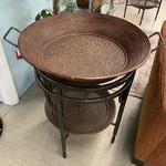 1-30639 Metal Barrel End Table