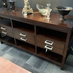 1-30729 TV Stand w/ Silver Knobs