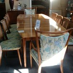 1-31054 Widdicomb Dining Table w/ 10 Chairs, 2 Leaves and Pads