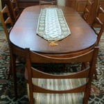 1-31180 Lane Table w/ 6 Chairs, 2 Leaves and Pads