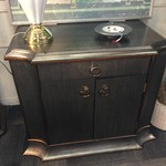 1-31047 Gold Side Table/Cabinet