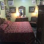 1-31318  John Widdicomb King Bed, Chest, Mirror, Armoire and 2 Nightstands