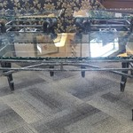 1-31187 Metal and Glass Coffee Table