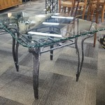 1-31185 Metal and Glass End Table