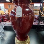 1-32109 Large Heavy Red Vase
