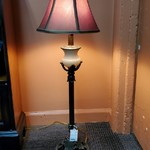 1-31489 Lamp w/ Red Shade