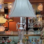 7898-38 Silver and Glass Table Lamp