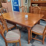 1-32044 Tom Seely Hand-built Table w/ 6 Chairs and 2 Leaves