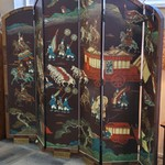 1-32004 Asian 6 Panel Screen