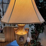 1-31663 Gold Lamp w/ Picture On Front