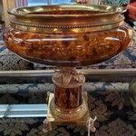 1-32105 Bombay Solid Brass and Glass Bowl
