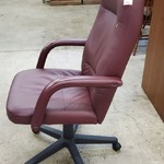 1-31673 Red Leather Office Chair