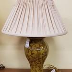 1-27988 Ceramic Lamp w/ Pleated Shade