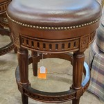 1-32038 Leather Top Bar Stool