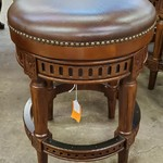 1-32040 Leather Top Bar Stool