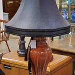1-27377 Rust Ceramic Table Lamp w/ Pretty Black Shade
