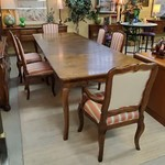 1-31021 Parquet Table w/ Six Chairs and Three Boards