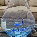 1-31379 Blue Fish Vase