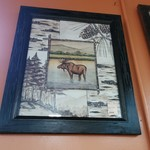 1-19481 Moose Art in Wood Frame