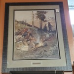 """1-27915 """"Unexpected Guest"""" Charles Russel Print"""